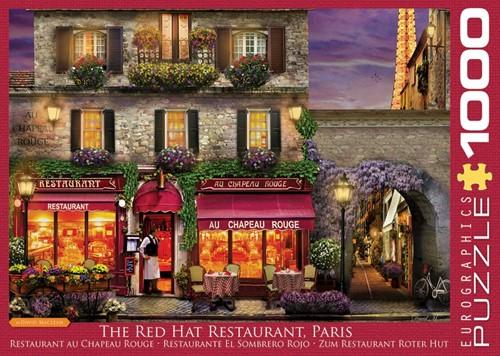 The Red Hat Restaurant Paris Puzzel (1000 stukjes)