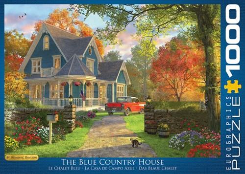 The Blue Country House - Dominic Davison Puzzel (1000 stukjes)