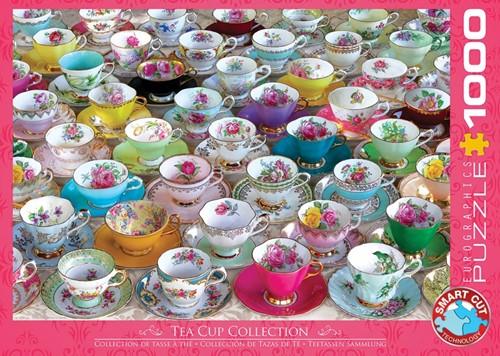 Tea Cups Collection Puzzel (1000 stukjes)