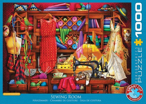 Sewing Craft Room Puzzel (1000 stukjes)