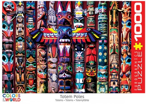 Canadian Totem Poles Puzzel (1000 stukjes)