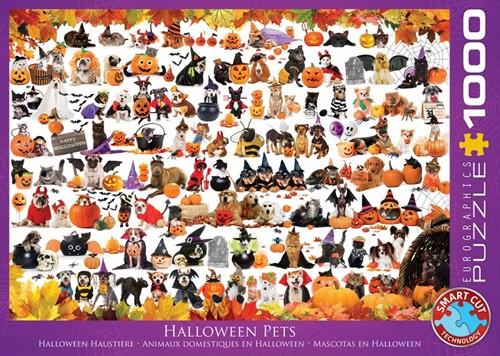 Halloween Puppies and Kittens Puzzel (1000 stukjes)