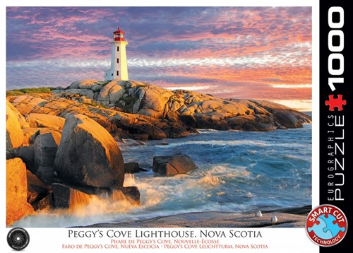 Peggy's Cove Lighthouse, Nova Scotia Puzzel (1000 stukjes)