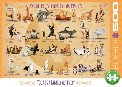 Yoga is a Family Activity Puzzel (500 XL stukjes)