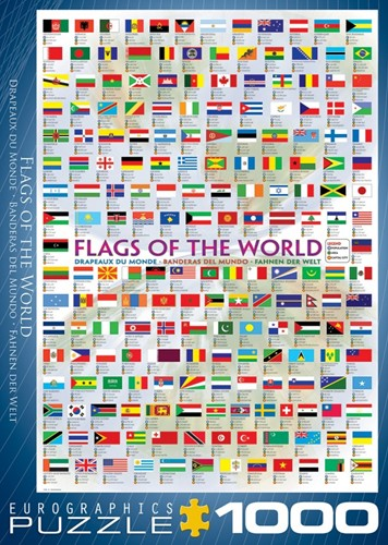 Flags of the World Puzzel (1000 stukjes)