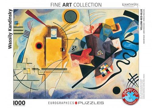 Yellow Red Blue - Wassily Kandinsky Puzzel (1000 stukjes)
