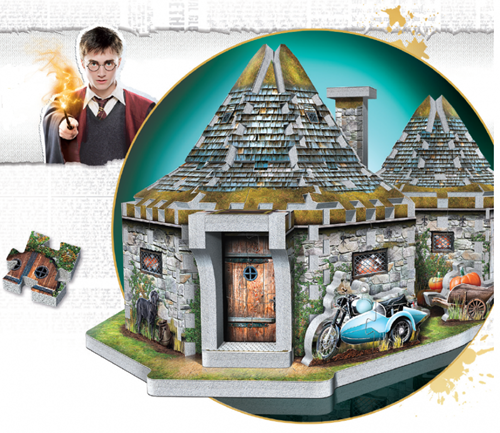 Wrebbit 3D Puzzel - Harry Potter Hagrid's Hut (270 stukjes)