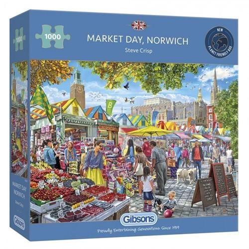Market Day, Norwich Puzzel (1000 stukjes)