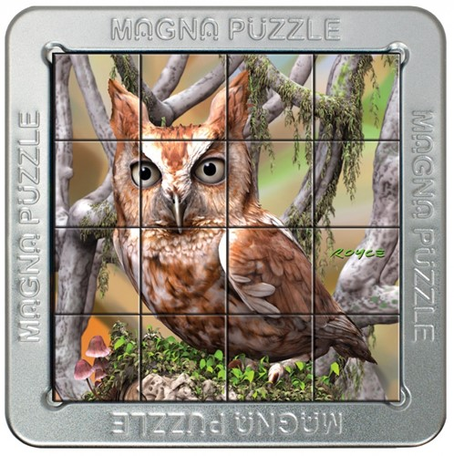 Magnetische 3D Portret Puzzel - Uil (16 stukjes)