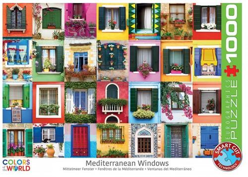 Mediteranean Windows Puzzel (1000 stukjes)