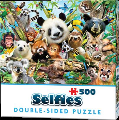 Double-Sided Selfie Puzzles - Jungle (500 stukjes)