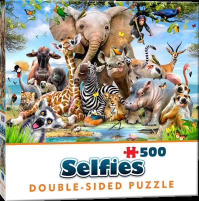 Double-Sided Selfie Puzzles - Wild (500 stukjes)