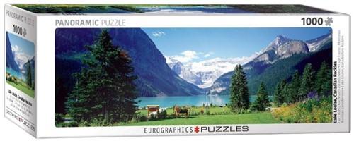 Lake Louise Canadian Rockies Panorama Puzzel (1000 stukjes)