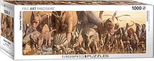 Dinosaurs - Haruo Takino Panorama Puzzel (1000 stukjes)