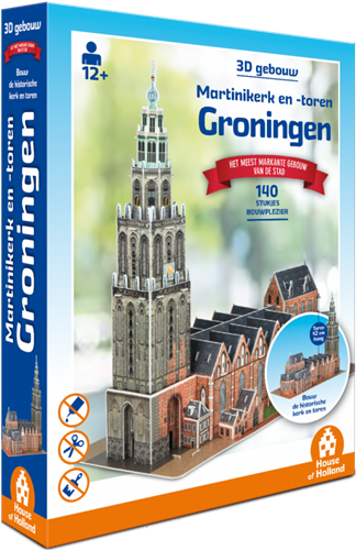3D Gebouw - Martinikerk Groningen (140 stukjes)