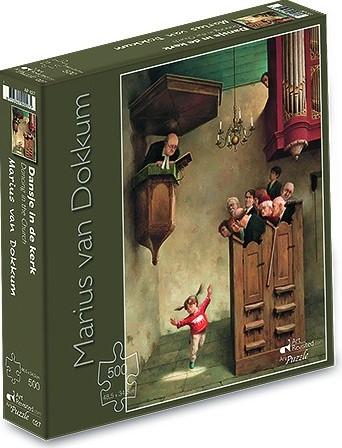 Marius van Dokkum - Dansje in de Kerk Puzzel (500 stukjes)