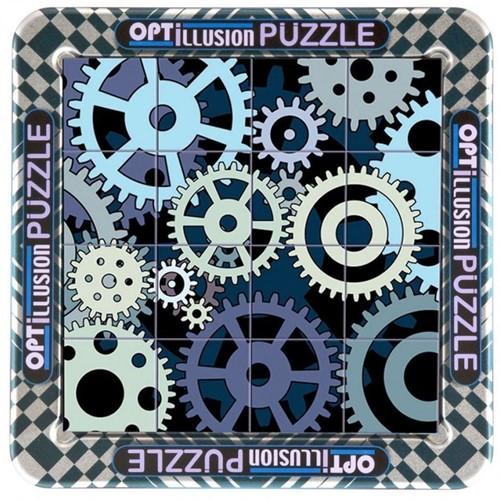 Magnetische 3D Portret Puzzel - Optillusion (16 stukjes)