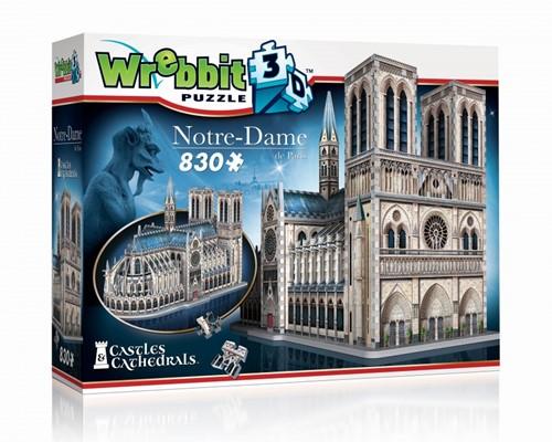 Wrebbit 3D Puzzel - Notre Dame (830 stukjes)