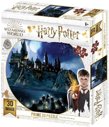 3D Image Puzzel - Hogwarts (500 stukjes)