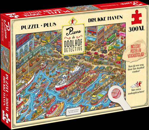 Pierre de Doolhofdetective - Drukke Haven Puzzel (300 XL stukjes)