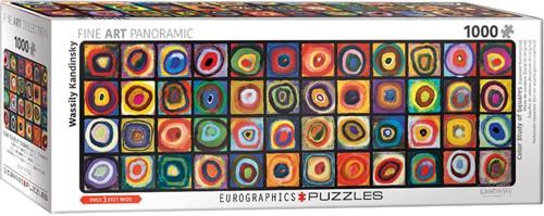 Color Study of Squares - Panorama Puzzel (1000 stukjes)