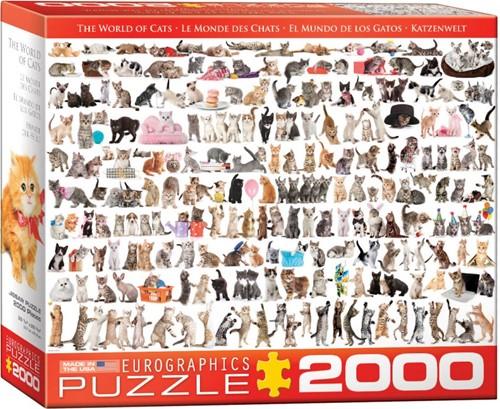 The World of Cats Puzzel (2000 stukjes)