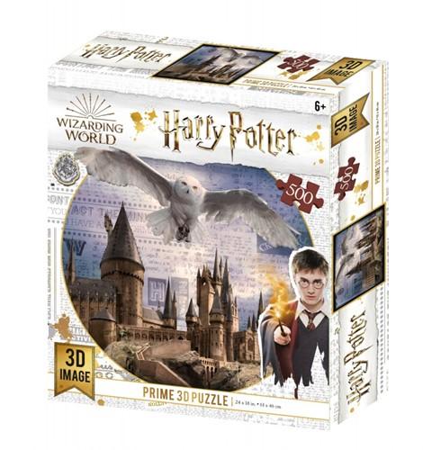 3D Image Puzzel - Hogwarts and Hedwig (500 stukjes)