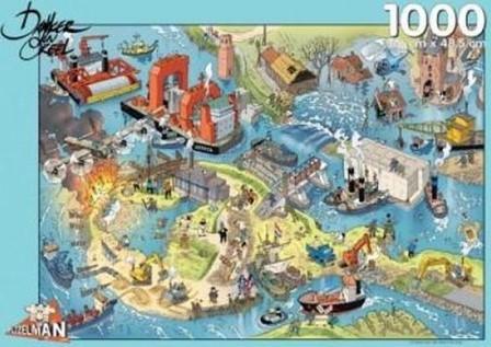 Waterwerken - Danker Jan Puzzel (1000 stukjes)