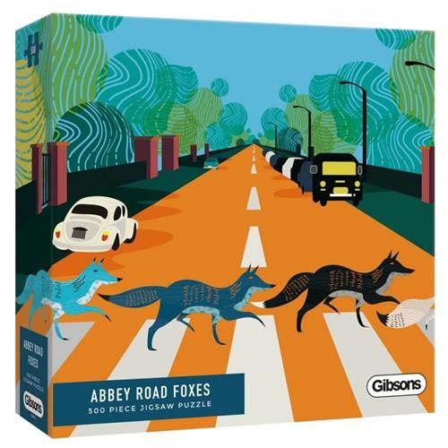 Abbey Road Foxes Puzzel (500 stukjes)