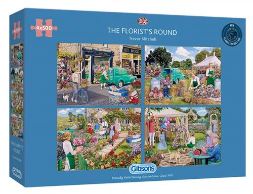 The Florist's Round Puzzel (4 x 500 stukjes)