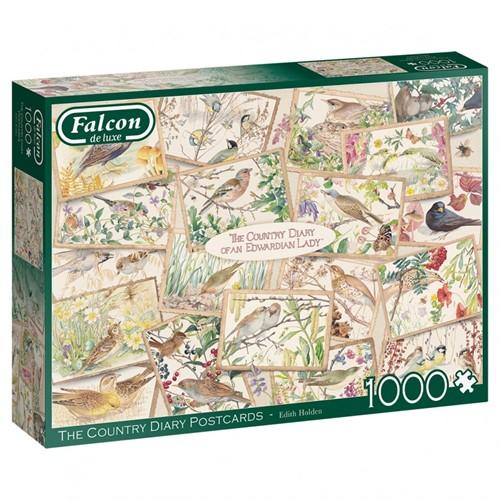 Falcon - Country Diary Postcards Puzzel (1000 stukjes)