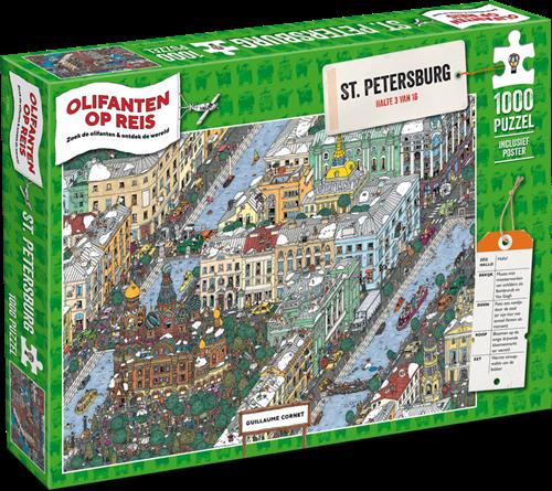 Olifanten op Reis - St. Petersburg Puzzel (1000 stukjes)