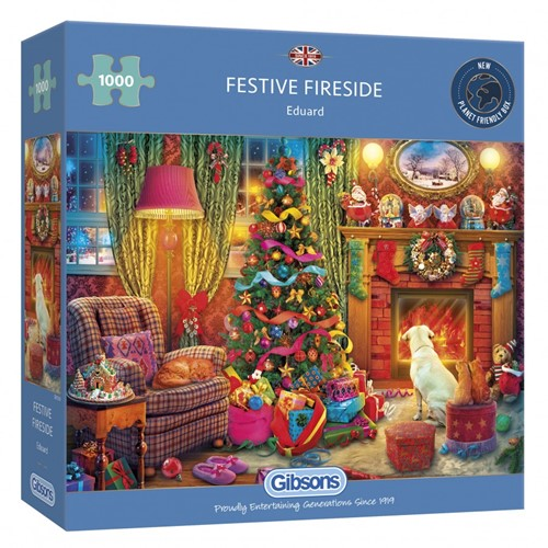 Festive Fireside Puzzel (1000 stukjes)