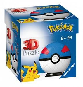 3D Puzzel - Pokemon Greatball (54 stukjes)