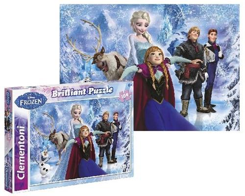 Frozen - Brilliant Puzzel (104 stukjes)