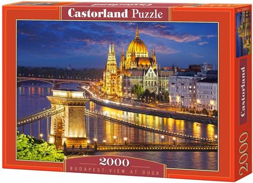 Budapest View At Dusk Puzzel (2000 stukjes)