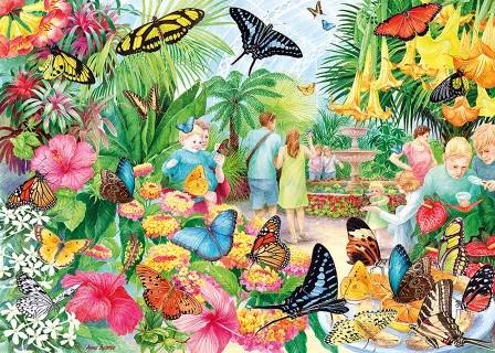 Butterfly House Puzzel (1000 stukjes)