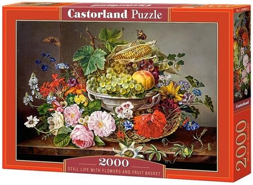 Still Life with Flowers and Fruit Basket Puzzel (2000 stukjes)