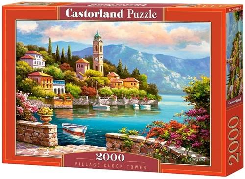 Village Clock Tower Puzzel (2000 stukjes)