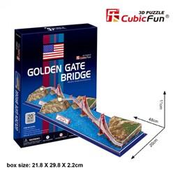 3D Puzzel - Golden Gate Bridge (20 stukjes)