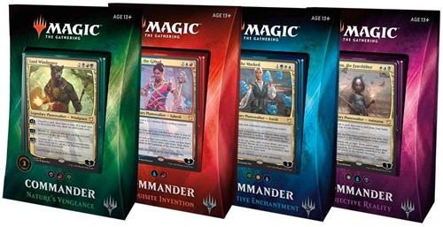 MTG Commander 2018 - Set van 4 Decks