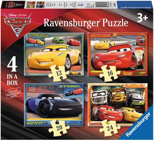 Disney Cars 3 - Let's Race Puzzel (4 in 1)
