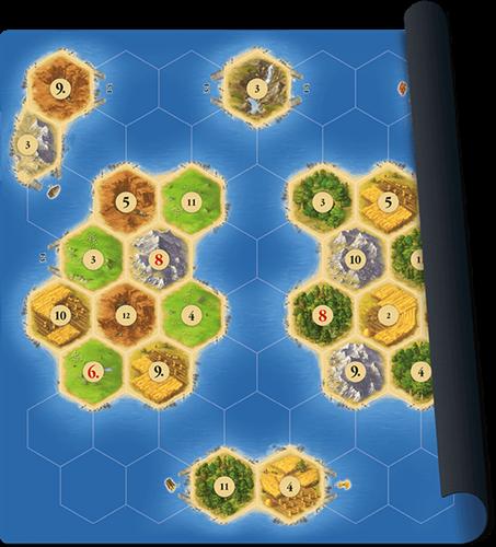 Speelmat Catan Zeevaarders - Scenario Islands-1