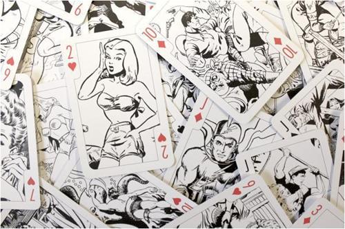 Colour-In Speelkaarten - Amazing Action Comics-3