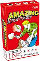 Colour-In Speelkaarten - Amazing Action Comics