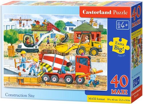 Construction Site Puzzel (40 stukjes MAXI)