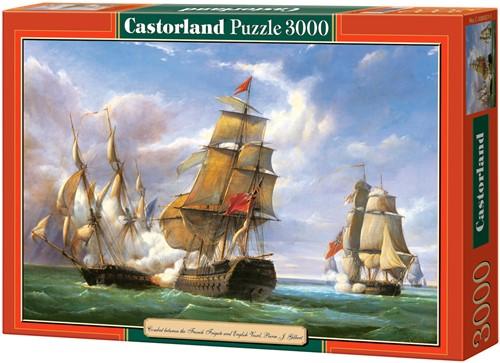 Combat Between The Frensch and English Vessels Puzzel (3000 stukjes)