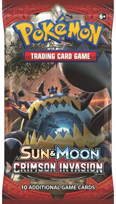 Pokemon Sun & Moon Crimson Invasion - Boosterpack-3