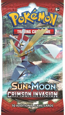 Pokemon Sun & Moon Crimson Invasion - Boosterpack-1