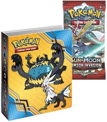 Pokemon Sun & Moon Crimson Invasion - Mini Album + Boosterpack